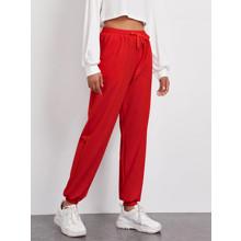 Брюки-джоггеры женские утепленные Classic red (код товара: 57074)