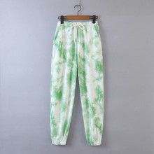 Брюки-джоггеры женские в стиле tie dye Green paint (код товара: 57869)