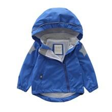 Куртка детская демисезонная с капюшоном однотонная Голубая (код товара: 59494)