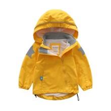 Куртка детская демисезонная с капюшоном однотонная Желтая (код товара: 59495)