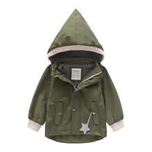 Куртка для мальчика демисезонная с капюшоном и флисовой подкладкой Хаки (код товара: 59496)