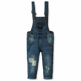 Комбинезон джинсовый для девочки ZR оптом (код товара: 6198): купить в Berni