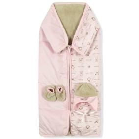 Флисовый конверт-одеяло для девочки Bebessi оптом (код товара: 6681): купить в Berni