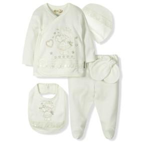 Комплект 5 в 1 для новорожденной девочки  Bebitof (код товара: 6868): купить в Berni