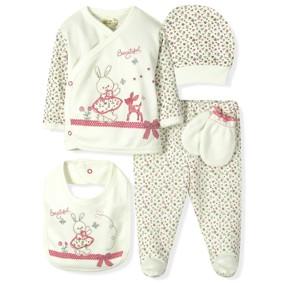 Комплект 5 в 1 для новорожденной девочки  Bebitof (код товара: 6870): купить в Berni
