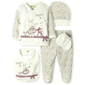 Комплект 5 в 1 для новорожденной девочки  Bebitof  (код товара: 6871): купить в Berni