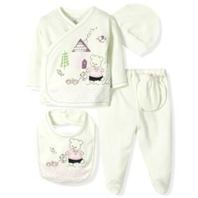 Комплект 5 в 1 для новорожденной девочки  Bebitof оптом (код товара: 6875): купить в Berni