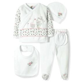 Комплект 5 в 1 для новорожденной девочки  Bebitof (код товара: 6921): купить в Berni