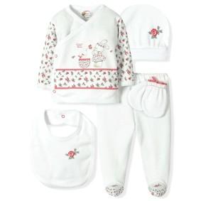 Комплект 5 в 1 для новорожденной девочки  Bebitof (код товара: 6922): купить в Berni