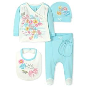 Комплект 5 в 1 для новорожденной девочки (код товара: 7396): купить в Berni