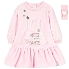 Велюровое платье для девочки (код товара: 7366): купить в Berni